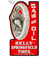 Kelly Springfield Tires Cut Out Reproduction Metal Sign 12.7x23.5 - $35.64