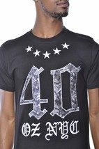 40 Oz Forty Ounce New York Roses And Stars Black T-Shirt NWT image 2