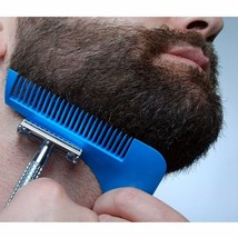 Beard Styling Shaping Template Comb Barber Tool Symmetry Line Up Trimmin... - $1.23