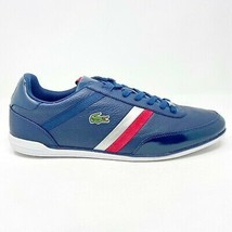 Lacoste GIRON SLX SPM Leather Blue Red Mens Casual Sneakers - $89.95