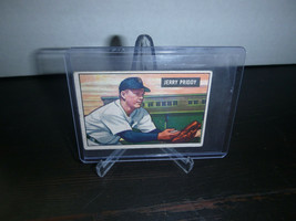 1951 Bowman Gum Baseball Card #71 Jerry Priddy Trading Card Good Condition - $8.90