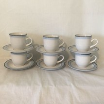 6 Sets Johann Haviland Coffee Mugs Cups & Saucers Mountain Sky Crowning Fashion  - $29.69