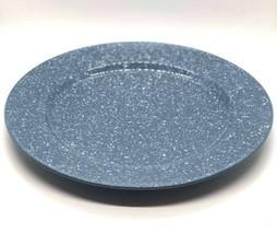2 Mikasa Ultrastone Country Blue CU501 Dinner Plates Farmhouse White Spe... - $29.65