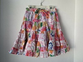 OLD NAVY XS (5) girls Floral Skirt layered beautiful floral - $11.87