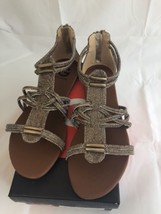 G By Guess Gold Strappy Sandals 9 Womens - $44.55