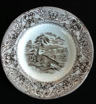 Antique Victorian Pottery Bowl rare Historical Scene Transferware Rideau... - $199.95