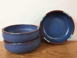 """Set 3 Vintage Dansk Portugal Mesa Sky Blue Southwestern 5.75"""" Cereal Soup Bowls - $47.99"""