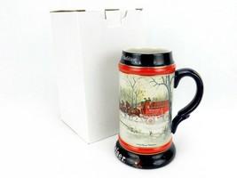 1990 Anheuser Busch AB Budweiser Bud Beer Stein An American Tradition  - $21.51