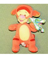 Disney BABY TIGGER RATTLE + SECURITY BLANKET Frog Plush Stuffed FISHER P... - $18.70