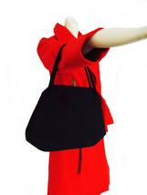 vintage 1950s black wool felt purse/40s  50s hand bag/ 1940s WWII swing ... - $29.99