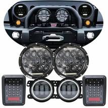 """7"""" LED Headlight Fog Turn Tail Lights Combo Kit For 07-17 Jeep Wrangler JK - $128.69"""