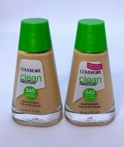 2x Covergirl Clean Sensitive Liquid Foundation Warm Beige 545  - $12.38
