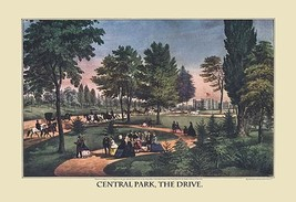 Central Park; The Drive by Nathaniel Currier - Art Print - $19.99+
