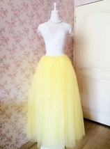 Yellow Floor Length Tulle Skirt Long Tulle Tutu Wedding Outfit image 6