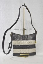 NWT Brahmin Jody Striped Cross-Body/Shoulder Bag in Angora Vineyard image 2