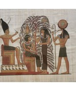Ramses II & The Tree of Life Atum Thoth Sestat Egypt Kemet Papyrus Art P... - $346.49