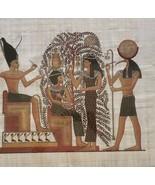 Ramses II & The Tree of Life Atum Thoth Sestat Egypt Kemet Papyrus Art P... - $350.61