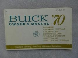Buick Lesabre Electra Wildcat Estate Wagon 1970 Owners Manual 14702 - $19.75