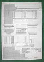 GREECE Athens Stoa of Attalos Details - (2) Two Architecture Prints - $12.15