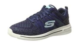 Skechers Womens Burst Walk Trainers Blue (Navy/Turquise) 5 UK - £95.64 GBP