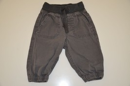 H&M Solid Gray Corduroy Infant bottoms Pants Everyday 0-3 Months 100% Cotton - $1.00