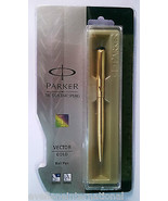 Parker Vector Gold  Ball Pen  With Gold Clip - $18.15
