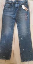 Men's Levi 511 Jeans Slim Fit Distressed Blue Warp Stretch 34 X 34 - $46.46