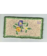 "Dollhouse miniature needlepoint rug artisan made, 6"" x 3"" - $99.00"