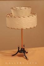 RARE! MID CENTURY MODERN ATOMIC TRIPOD LAMP! 50'S EAMES FIBERGLASS SHADE... - $600.00