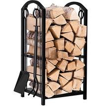 Log Rack with 4 Tools Indoor Outdoor Fireside Firewood Holders Lumber - $71.71
