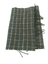 Perry Ellis Gray Brown Plaid Rectangular Winter Scarf With Fringes - $6.17