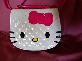 New Hello Kitty Sling Back PU Leather Purse-White - $15.00