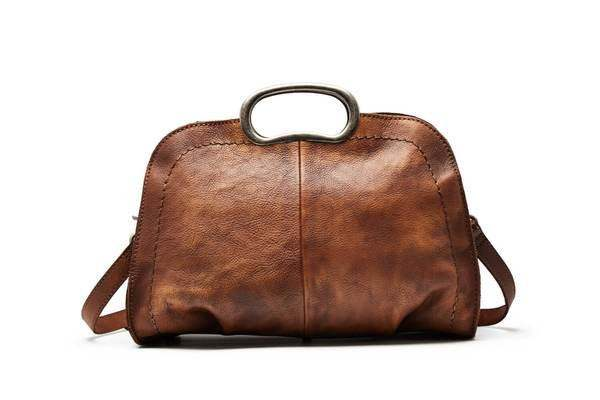 Sale, Vegetable Tanned Leather Satchel Bag, Handmade Women Bag, Designer Leather image 2