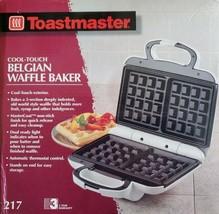 Toastmaster Belgian 2 Waffle Baker Maker Model 217 Cool Touch Brand New ... - $32.67