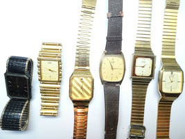 5 Citizen Japan And 1 Swiss Vintage Quartz Watch For Restoration Or Parts Only - $120.94