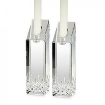 Waterford Crystal Lismore Essence 8 Inch Candlestick Pair New Hand Signe... - $192.06