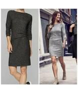 Athleta Dress Side Ruching Gray Stretch Pullover Women's Size XXS - $24.74