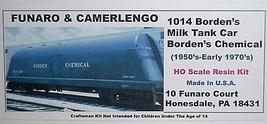 Funaro & Camerlengo HO Borden's Milk Tank Car  Bordens Chemical  Division Kit  1 image 1