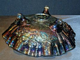 Imperial Hand Crafted Purple Carnival Glass 3 Footed Candy Dish Bowl AA19-CD0039 image 3