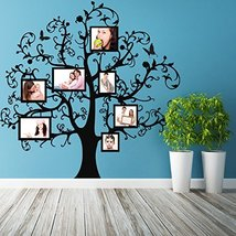 ( 87'' x 86'') Vinyl Wall Decal Tree with Picture Frames, Flowers & Butterflies  - $175.75