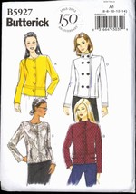 Unc Sz 6 8 10 12 14 EASY Lined Jacket Butterick 5927 Pattern  Anniversary - $6.99