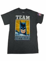 Six Flags DC Comics Team Batman Graphic T Shirt S Small Grey - $19.79