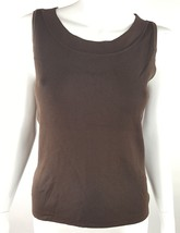 Dressbarn Womans Small Solid Chocolate Brown Tank Top NWT Soft Stretchy ... - $14.95