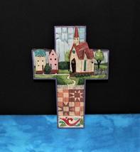 "Jim Shore 2006 ""Church Village"" Heartwood Creek Cross Wall Decor #4007046 - $11.00"