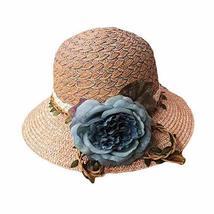 PANDA SUPERSTORE Summer Holiday Travel Beach Cap Women's Summer Sun Hat Folding