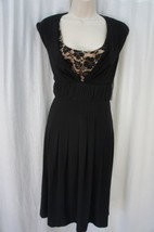 Adrianna Papell Dress Sz 10 Black Horsehair Banded Cocktail Evening Part... - $69.26