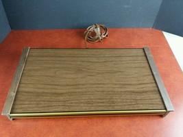 vintage Cornwall electric hot tray plate model 1461 wood grain trivet ki... - $9.50