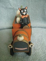 Black Cat and White Jack-o-Lanterns Riding in Car allen cunningham Betha... - $54.40