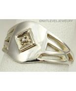 Antique Ostby & Barton 1920's Art Deco Diamond Silver & 10k Gold Cocktai... - $272.25