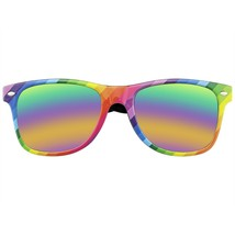 Gafas de Sol Hombre Mujer Retro 80s Fiesta Festival Arcoiris Reflectante - $10.54+
